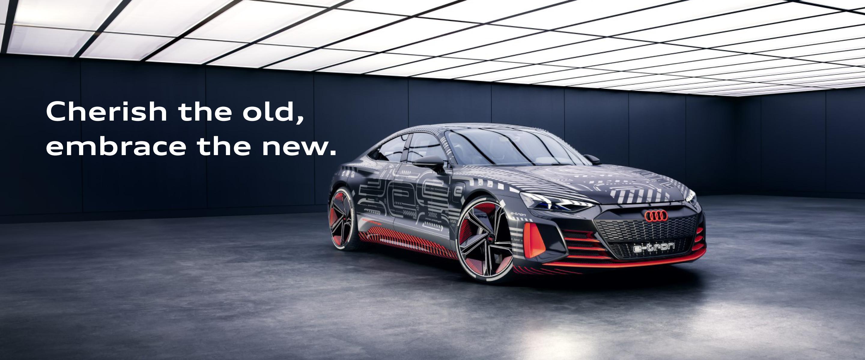 Ervaar als eerste de volledig elektrische Audi e-tron GT Concept
