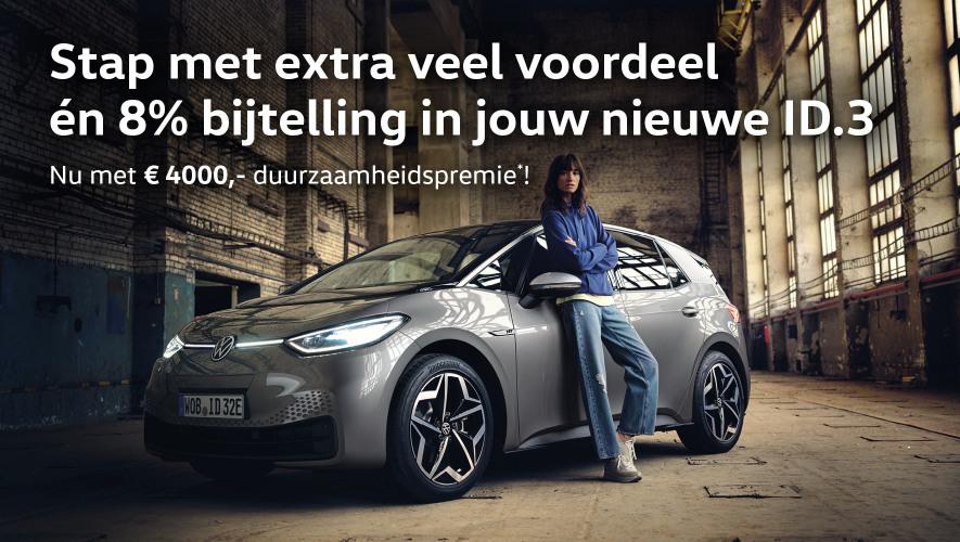 Volkswagen ID.3 op voorraad bij Wealer inclusief duurzaamheidspremie