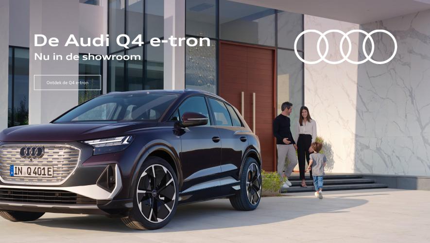 Audi Q4 e-tron nu in de showroom bij Wealer